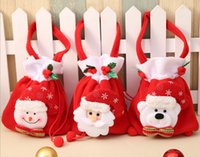 Fashion Christmas Santa style Christmas Decoration Christmas Wedding Candy Bags Lovely Gifts Xmas Bag For Children