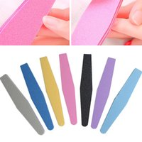 Wholesale 1PC Nail Buffer Diamond Washable Double Sided Sponge File Polish Block Professional Grinding Manicure Tools Colors