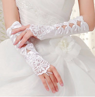 Wholesale Dress Wedding Below - New Arrival Bridal Gloves With Bows For Wedding Dresses Wedding Gloves 2016 Wedding Accessories One Size In Stock