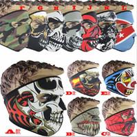máscaras de neopreno al por mayor-Máscara de neopreno de cráneo completo de disfraces Fiesta de disfraces de Halloween Máscara de moto Moto Esquí Snowboard Deportes Pasamontañas