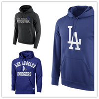 Wholesale Sweatshirt Navy - Free Shipping L.A. Dodgers Logo Performance Pullover Hoodie - Navy Sweatshirts baseball Hoodie or costom any pictures Mix Order