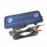 Wholesale 12v Charger For Car - 12V 4.5W Multipurpose Portable Solar Battery Charger for Car Automobile Motor Tractor Boat Solar Battery Panel Power+Car Charger