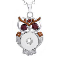 сова смотреть женщина оптовых-Мода Сова подвески длинные ожерелья серебряные ожерелья подвески часы женщина fit 18 мм защелки 2016 Стиль