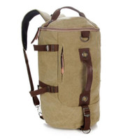 Wholesale Chocolate Candy Bucket - Large capacity man travel bag mountaineering backpack men bags canvas bucket shoulder bag 012