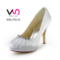 Wholesale Custom Shaped Rubber - Top Quality Ivory Wedding Shoes 10 cm High Heel Bridal Shoes Custom Made Ivory Party Women Shoes For Wedding Free shipping from size 35-42