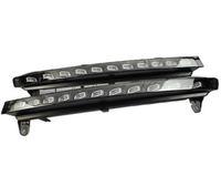 светодиодная лампа бампера оптовых-Быстрая доставка LED drl для Audi Q7 2006 ~ 2009 дневные ходовые огни передний бампер лампы с желтый световой сигнал аксессуары