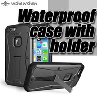 Wholesale Life Cell Phone Cover - 3 in 1 Protective cover case life waterproof shockproof dustproof with holder for iPhone Samsung LG cell phone case
