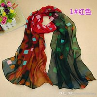 Wholesale Scarfs For Cheap - 2015 Scarfs for Women Cheap Scarves New Women Chiffon Scarfs Shawls Sarongs Elegant Lattice Printed Scarves Oversize Wraps Mix Colors