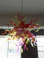 Frete Grátis 100% Hand Blown Glass Chain Chandelier China Factory-outlet Turkish Murano Glass Pendant Lamp para Casa