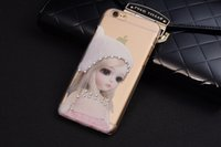 Wholesale Iphone Cases For Girls 3d - Fashion Luxury 3D Stereo Relief PC Transparent Hard Case For iPhone 6 6S Plus 5S 5SE Diamante Back Cover Dress Lover Girl Butterfly