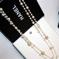 Wholesale Pearl Gift Jewelry Prices - 2016 New arrived fashion double strand of pearl necklace for women's gift fine jewelry wholesale price