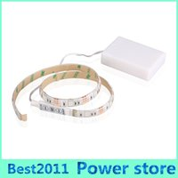 Wholesale Wholesale Decorations For Aquariums - battery power led strip fairy lights waterproof SMD 5050 led rgb led strip for aquarium led lighting and TV Night Lights