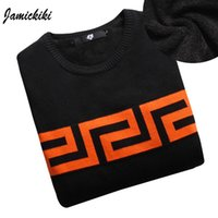 Wholesale Jamickiki High Quality Men Fashion Brand Casual O neck Thickening Sweater And Pullover Winter New Men Knitted Sweaters