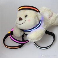 E07 collari liberi di Light-emitting del collare LED del cane dell'animale domestico di trasporto del collare mini collare dei cani per i gatti dei piccoli cani
