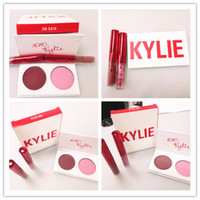Wholesale One Hearts - .Valentine's day Edition kylie 2 pcs lipgloss+one pcs eyeshadow The Smooch Kiss Me Sweet Heart 3pcs kylie Jenner kylie free shiping DHl
