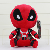 "Wholesale Stuffed Animals Anime - Marvel Deadpool Plush Toys Soft Stuffed Dolls 8"" 20cm Soft Doll PP Cotton 8 inch Deadpool Stuffed Animals Kids"