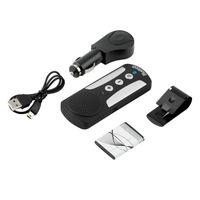 Wholesale bluetooth car hands free speakerphone online - Handsfree Headset Wireless Bluetooth hands free Multipoint Car Kit Speaker Cellphone Universal Speakerphone