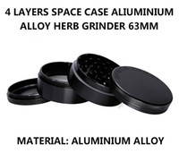 Wholesale Grinding Cnc - Best Quality- 63mm 4pc CNC grinder Aluminum space case Grinder tobacco smoke cigarette detector grinding smoke Tobacco grinder VS sharpstone