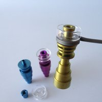 Wholesale Hybrid Steel - Hot selling 10mm 14mm 18mm colorful DualiTi Quartz Titanium Hybrid nail fit flat 10mm coil heater for glass water bong dab oil rigs