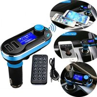 Wholesale Car Charger Aux Adapter - MP3 Play FM Transmitter Handsfree Car Charger Bluetooth AUX Audio Music Adapter With the Retail Box