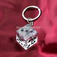 Unqiue Party Gift Las Vegas Themed Crystal Dice Chaveiro Bridal Shower Favors e Gift For Guest Free Shipping