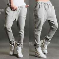 Wholesale Harem Dance Man - 2016 new Casual Men Athletic Hip Hop Dance Sporty Harem Sport Sweat Pants Slacks Trousers Sweatpants