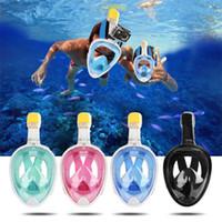 masque respiratoire achat en gros de-Natation Plongée Respiratoire Plein Masque Surface Snorkel Scuba pour GoPro Action Sport Caméra Sj4000S / M / L / XL