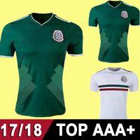 Wholesale National Soccer Team Uniform - 2017 Mexico National Team Jerseys 17 18 Mexico Home green Soccer Jerseys 2018 away white Football Shirts uniforms top thailand quality