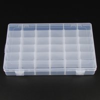 Wholesale Collections Necklace Earrings - Wholesale Adjustable Plastic Compartment Storage Jewelry Collection Bracelet Necklace Earring Ring Box Jewellery Case 36 Compartments