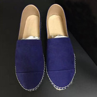 Wholesale Canvas Shoes Ballet Flats - luxury ballet shoes Women Genuine Leather Espadrilles Brand Designer Fashion Flats Loafers slip on Flats Shoes Woman high quality Casual Sho