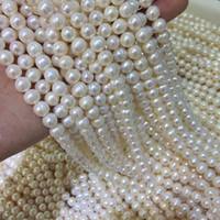 Wholesale Movies Culture - selling well all over the world DIY semi-finished products 8-9mm White Freshwater Cultured Pearl Loose Bead 14 inches