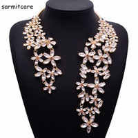 Wholesale big pendent - N051 - 2016 New Luxurious Big Pendent Alloy Necklace with Rhinestones Tassels Women Gothic Choker Star Necklace Bohemia Necklaces Chokers