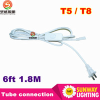 Wholesale Port Tube - US Plug 6ft T5 T8 LED Tube Wire switch Connector With ON OFF Switch Power Cord Extension Pigtail Cord for Lamp Light Port