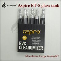 Wholesale Evic Clearomizer - 100% Original aspire et-s glass tanks ets bvc clearomizer et s stainless steel atomizer bvc coil for istick pico evic dual rx23 rx200s