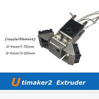 extrusora ultimaker venda por atacado-Acessórios de Impressora 3D Ultimaker 2 3D Impressora Montada Extrusora Set com 0.4mm Bico UM2 Cabeça De Impressão Set