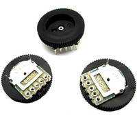 Wholesale potentiometer feet resale online - The new B503 K MM foot double potentiometer volume control dial gear turbo potentiometer