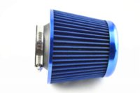 3 pouces 75mm bleu voiture SUV Trunk Racing High Flow KN Cone Air Intake Filter Cleaner Air Intake Filter