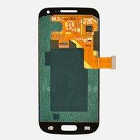 ingrosso i9195 schermo di tocco dello schermo dell'affissione a cristalli liquidi-Display LCD nuovo di zecca per Samsung Galaxy S4 mini i9190 i9195 LCD con touch screen digitizer assembly colore bianco.