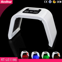 Wholesale Blue Light Phototherapy - Korea Portable OMEGA Light PDT LED Therapy Red Blue Green Yellow 4 Color Led Face Mask Light Phototherapy Lamp Machine For Skin Rejuvenation
