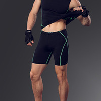 Wholesale criss cross tights - Wholesale-Hot new mens compression sport short fitness quick dry gym running elastic shorts bodybuilding tights mens training short homme