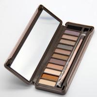 venda de olhos nude venda por atacado-Vendas quentes! Nova Moda Maquiagem Matte Sombra de Olho NUDO 12 cor da paleta da sombra 15.6g de Alta qualidade NUDE 2