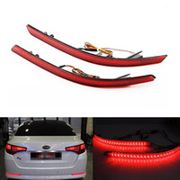 Wholesale fog accessory online - 2Pcs Car Accessories Red Brake Tail Light Rear Bumper Reflector Lights Warning Stop Tail Fog Lamp Fit for Kia Optima K5
