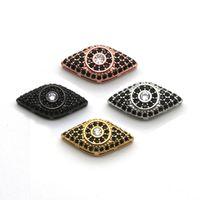 Wholesale Jewelry Make Evil Eye Wholesale - Wholesale evil eye CZ charm for DIY Jewelry, cubic zirconia evil eye accessory for jewelry making.