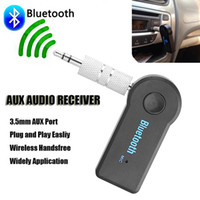 Universal 3.5mm Streaming coche A2DP inalámbrico Bluetooth coche kit AUX Audio Music receptor inalámbrico manos libres con micrófono para teléfono MP3