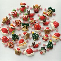 Wholesale Christmas Dog Hair Accessories - 50pcs Pet Hair Clips Christmas Hair Accessories for Dogs Cats Puppy Headwear Snowflake  Snowman  Christmas Tree