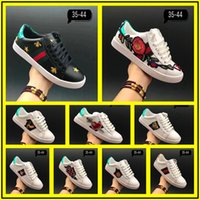 Wholesale G Dragon Shoes - 2017 New Top Quality Men Luxury Brand Dragon G G Sneakers Genuine Leather Lace Up Sports Running Shoes Comfortable Breathable Casual Shoes
