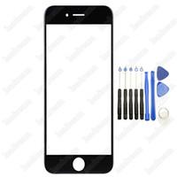 ecrans de verre avant de remplacement d'iphone blanc achat en gros de-Remplacement de la vitre de l'écran tactile avant 100pcs noir blanc avant pour iPhone 6 Plus 6s Plus avec outils