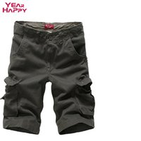 Wholesale New Arrival Men S Military - Wholesale-Men Cargo Shorts New Arrival Beach Surf Sport Men Playa Bermuda Masculina Camouflage Large Size Multi-Pocket Military Shorts