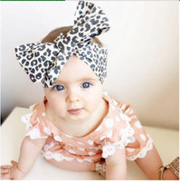 Wholesale Baby Headbands Stretch Elastic - 15% off! 50pcs  New arrival Baby Girl Toddler Infant Leopard Print Floral Hairband Bow Knot Headband Elastic Stretch Hair Band Accessories