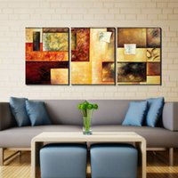 Wholesale Oil Painted Canvas Large - 3 Pieces Canvas Wall Art Decor Hand Paint Large Framed Oil Painting Modern Abstract Art Painting 40x60cmx3pcs